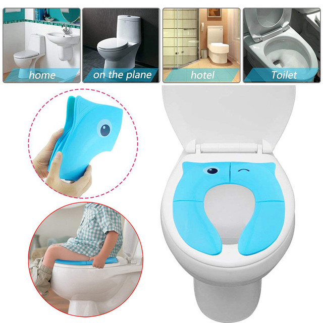 b91d72b2b7ef9 Foldable Plastic Potty Training Seat Cover Toddler Toilet Seat Adapter Baby  Comfort Potty Training Ring Non Slip Pads  EP