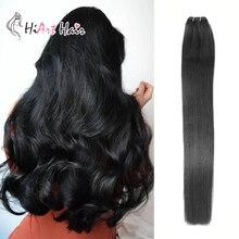 HiArt 100 г, человеческие волосы для наращивания remy, волосы для салона, волосы для наращивания, прямые волосы для наращивания на всю голову