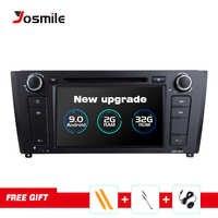 Josmile 1 Din Android 9,0 AutoRadio para BMW E87 serie 1 E88 E82 E81 I20 D Audio navegación GPS DVD Multimedia 4G Wifi DAB + CD