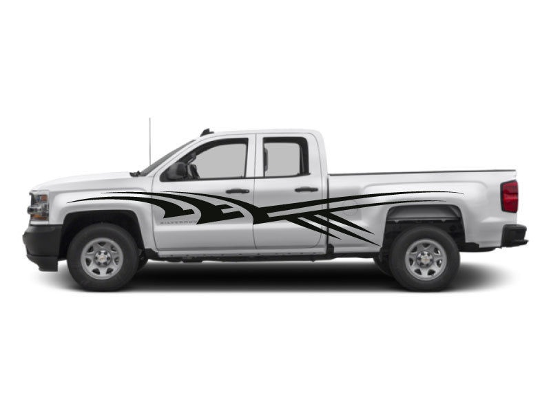 chevrolet tahoe side stripe vinyl decal sticker racing custom chevy z71  suv