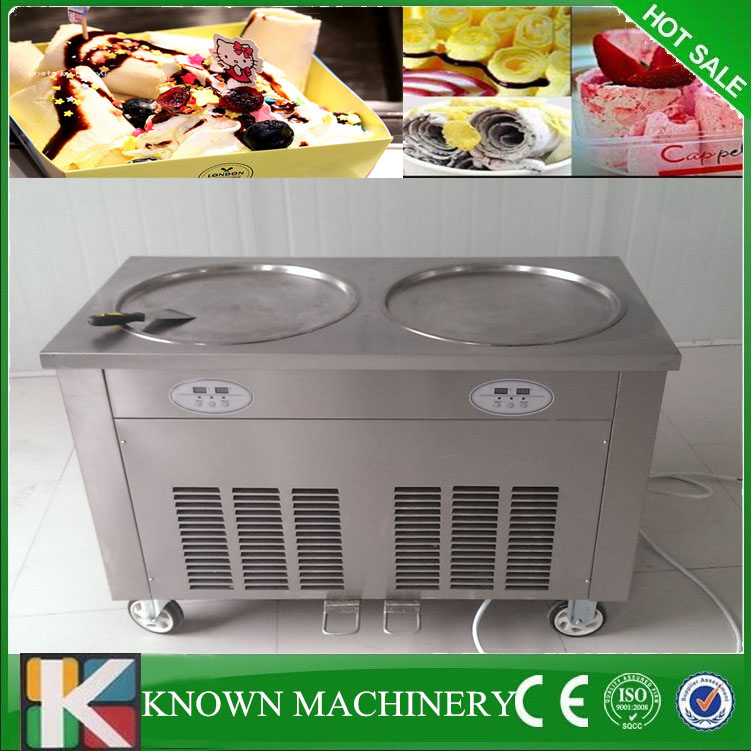 KN-2R Top Quality High Efficiency Commercial Fried Ice Cream Machine With 90kg On Sale
