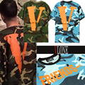 Camouflage Army Military Vlone Friends T-shirt Men Women 1:1 Version Cotton O-neck Hip Hop Short Sleeve Camo Big V Vlone T-shirt