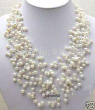 free P&P >>Elegant, fashion, sky full of stars, white pearl necklace