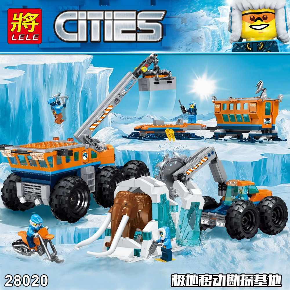 Hot City Set Arctic Exploration Mobile Base Compatible With LegoINGLYS City Model Building Block Bricks Toys Children Gift
