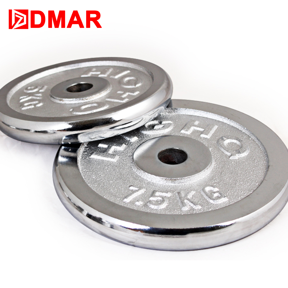 DMAR 1pc Electroplate Dumbbells Disk Weights For FitnessWeightliftingCrossfit Quipment Barbell GymMuscle StrengthExerciseBarbell