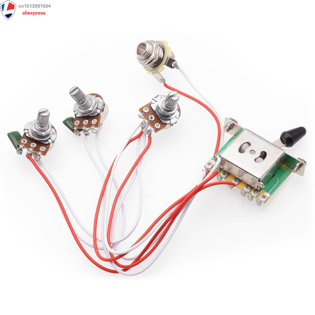 Astounding Wiring Harness Prewired 1 Volume 2 Tone Control 5 Way Switch 3 500K Wiring Cloud Oideiuggs Outletorg