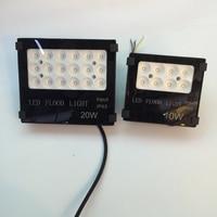 New IP65 Waterproof Led Flood Light 20W Black Shell Garden Lamp Spotlight Reflector Project For Outdoor