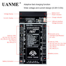 UANME Battery Fast Charger Activation Fixture 2 in 1 Intelligent Quick Charging Plate For iPhone 4-X Samsung 0-30V 0-5A