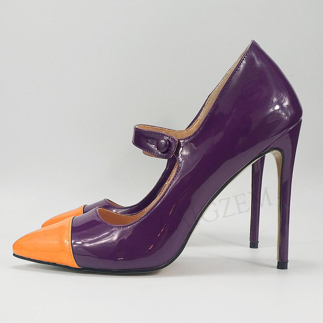 LAIGZEM colorido 2020 Zapatos de tacón para Mujer Zapatos de Mujer talla grande 34  47-in Zapatos de tacón de mujer from zapatos    1