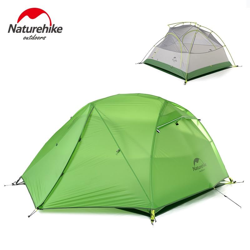 NatureHike 2 Pessoa Tenda Caminhadas Tenda Dupla-camada Tenda À Prova D' Água com Saia 4 temporada Tenda De Viagem para Camping