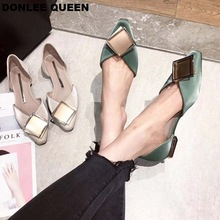 DONLEE QUEEN Brand Flats Ballet Shoes Women New Summer Ballerina Pointed Toe Shallow Buckle Flat Shoes Slip On Casual Loafer New недорого