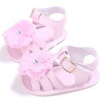 2017 New Style Summer Kids Girls Fashion PU Toddler Shoes Baby Girl Hollow Flower Anti-skid Shoe 0~18 M