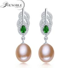 Real freshwater natural pearl earrings women,anniversary gift bridal pink pearl earrings 925 silver недорого