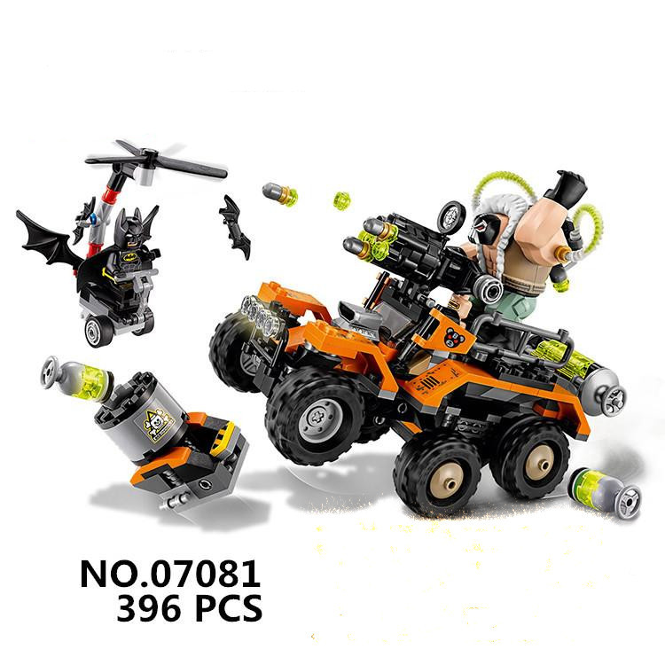 Compatible With Lego batman 70914 Model 07081 super heroes Bane Toxic Truck Attack Figure building blocks bricks toys moc 1128pcs the batman movie bane s nuclear boom truck super heroes building blocks bricks kids toys gifts not include minifig