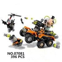 WAZ Compatible Legoe Batman 70914 Lepin 2017 07081 Super Heroes Bane Toxic Truck Attack Figure Building