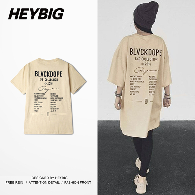 Germany Street Fashion BD Tee Kanye West season Men T-shirts Hiphop Heybig Swag clothing China Sizing Skateboard Tops