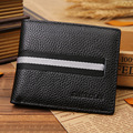 New Genuine Leather Wallet Men Famous Brand Mens Wallet with Coin Pocket Carteira Masculina Couro Card & ID Holders