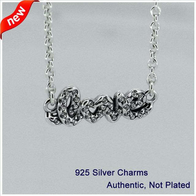 Compatível com Fandola Pulseiras Jóias 100% 925 Sterling Silver Beads Assinatura de amor Encantos Moda CKK