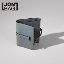 JONBAG ins Small wallet female Korean style stylish leather folding short new wallet mori