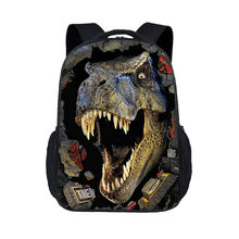 3D Dinosaur pattern Animals World Schoolbag Jurassic Dinosaur Kids Backpack Children Gift For Boys/Child Travel BookBag 43CM(China)