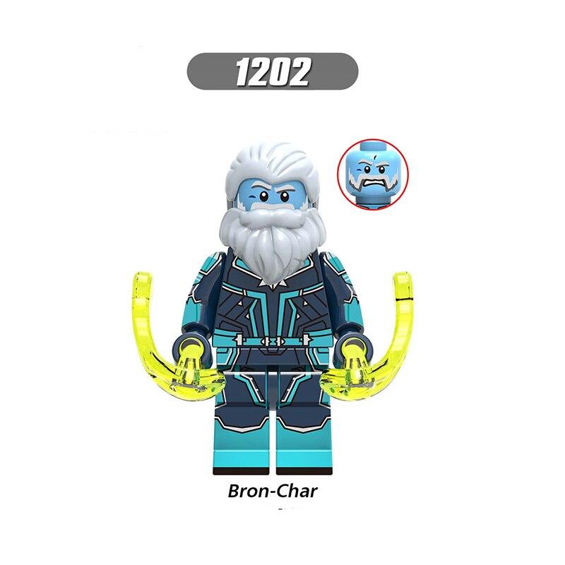 Single Sale LegoINGlys Enlighten Avengers 4 Bron-Char Attack Solider  Building Blocks Figures For Children Toys Gifts X0250
