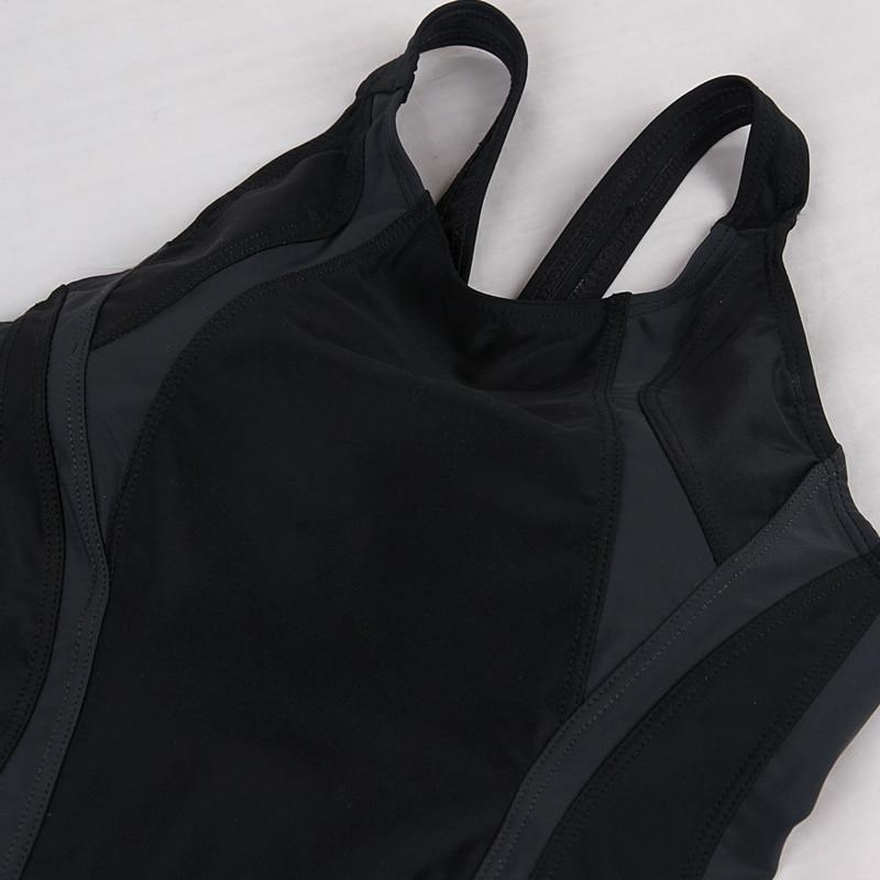 37d3a5bec Uma Peça Maiô de Natação Piscina Profissional Swimwear Spandex Maiô Círculo  de Volta As Mulheres Esporte Bodysuit em Ternos do corpo de Sports ...