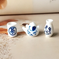 New1 12 Cute MINI Dollhouse Miniature Kitchen Re Ment Tea Set Bottle Teapot Teacup 3pcs Free