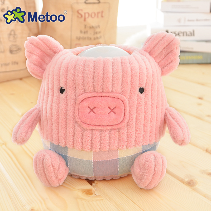 Metoo Brand Plush Cute Nightlight LED Toys Household Bedside Lamp Baby Child Pig Like Doll for Kid Birthday Gift