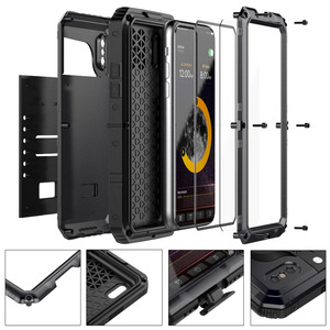 Image 5 - 3 Layers Hybrid Waterproof Shockproof Phone Cases for iPhone X 8 7 6 6S Plus 5 5S SE PC+TPU with Glass Phone Shell Case