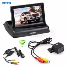 DIYKIT Wireless 4 3 Inch Car Reversing font b Camera b font Kit Back Up Car