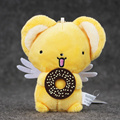 10cm Japan Anime Cartoon Cardcaptor Sakura Kero Plush Toys Soft Stuffed Dolls Keychain Pendants Gifs for Kids