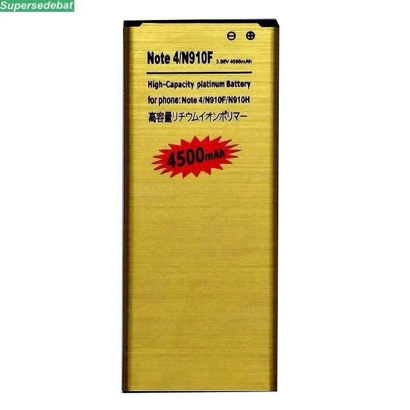 Supersedebat 10 pièces offre spéciale batterie EB-BN910BBE pour Samsung Galaxy Note 4 remplacement de téléphone piles rechargeables accumulateur