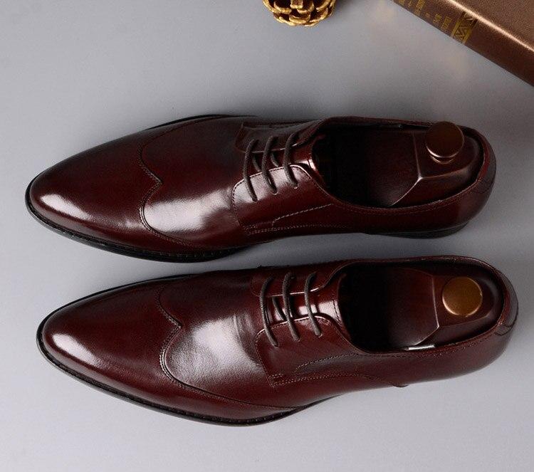 Genuino Diseñadores Qyfcioufu Negro Rojo Oxford Calidad Alta Formal Tinto Vino vino Marca Negro Cuero Lujo Italiano De Hombres Moda Vestido Zapatos PFPx8r