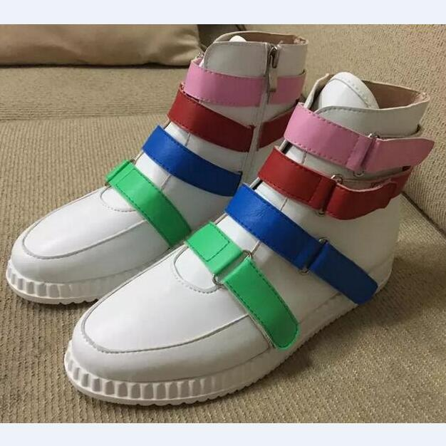 Women Fashion Mixed Colors Casual Shoes Hook & Loop Buckle Round Toe Flats Comfortable Ladies Lovely Shoes Wholesale