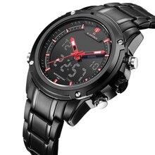 Yeni üst lüks marka naviforce erkek su geçirmez spor askeri saatler erkek kuvars analog dijital bilek İzle relogio masculino