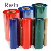 Harz Thermische Transfer Band, Farbe/Schwarz Tinte Film, 1 zoll oder 1/2 zoll core, für PET/PVC label Drucker