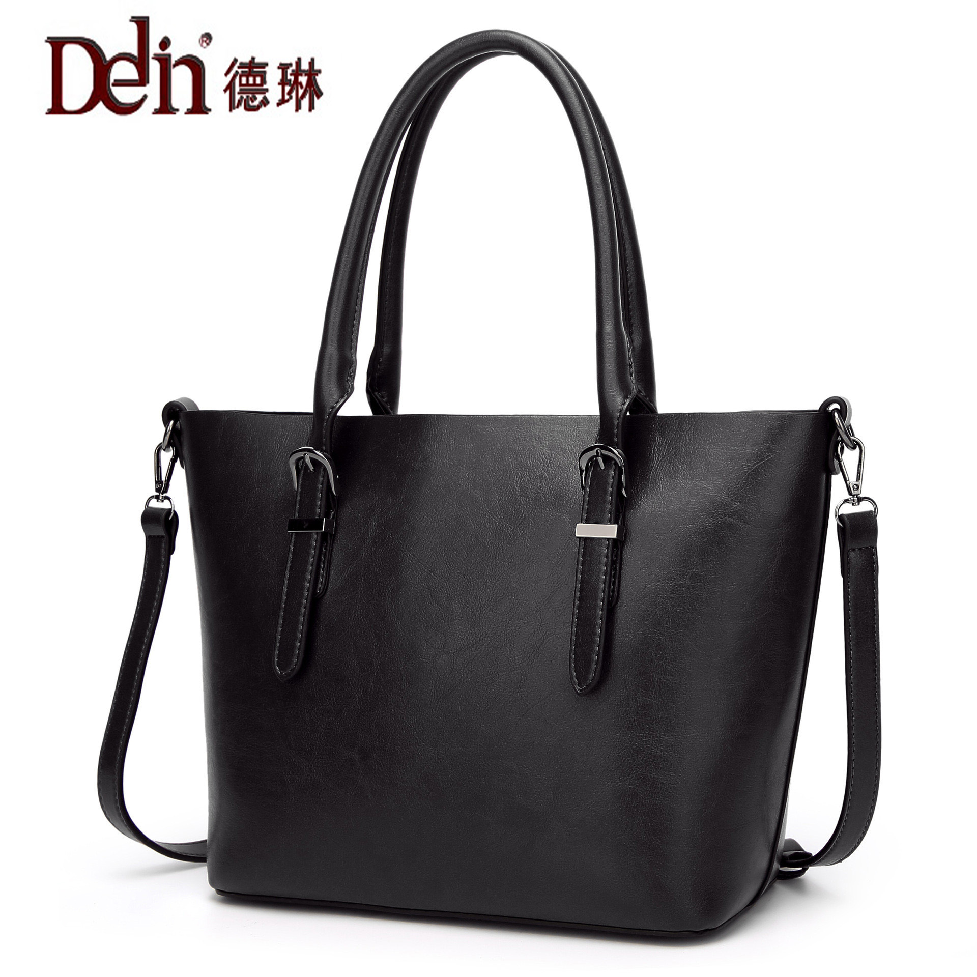 DELIN Manufacturers selling 2017 new fashion tote bag fashion large capacity single shoulder bag handbag