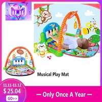 Rainforest Musical Lullaby Baby Play Activity Playmat Gym 3 In 1 Toy Soft Play Mat Baby Infant Fitness Carpet Educational Toys