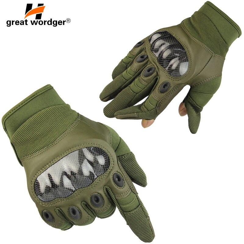 Männer Taktische handschuhe Kämpfen Volle Finger Militär Outdoor Armee Kampf Training Airsoft Handschuh Antislip Schildkröte Shell Handschuhe