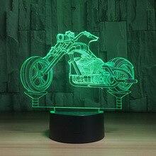 Светодиодный 3d модель мотоцикла светодиодный модель с Творческий Игрушечные лошадки интерьера Украшения подарок коллекция k1312