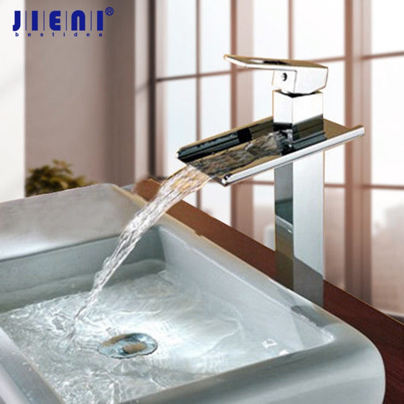 Soild Brass Tall Chrome Waterfall Bathroom Tap Faucet Sink Basin Mixer Water Tap Chrome Vanity Vessel Sinks Mixers Taps Faucet the ssd circuit board ssd pcba jmf612 jmf604 controller diy ssd sata3gb s interface ssd pcba flash interface tsop48