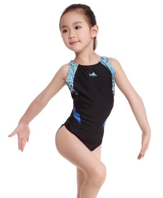 1d155d6ed021 2016 Children Girls One Piece Swimsuit Kids Professional Swimwear ...