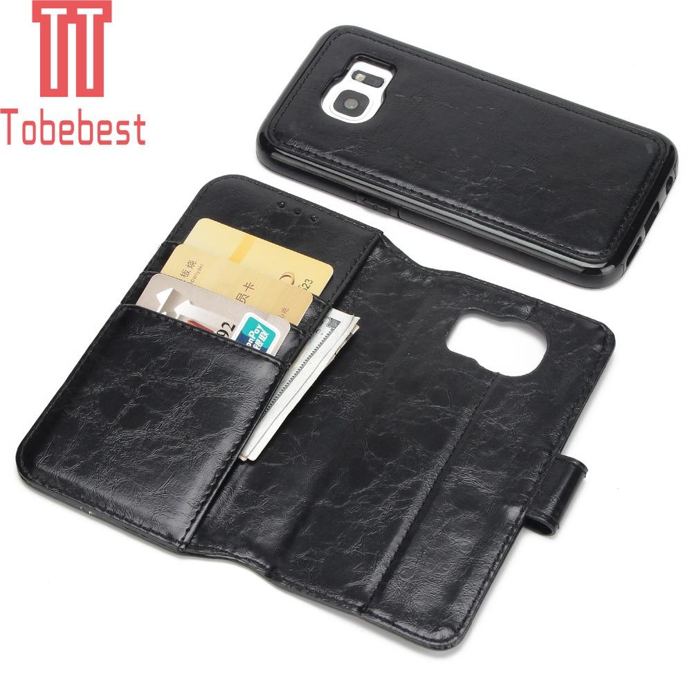 Tobebest бумажник чехол для Samsung Galaxy S7 g930v Роскошные Магнит Флип Ретро Кожаный многофункциональный 2 в 1 комбо Съемная крышка