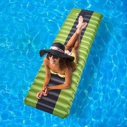 Nieuwe Zelfopblazende Camping Luchtbed Slapen Pad Outdoor Matten Vochtwerende Opblaasbare Lucht Matras Zwembad Drijvende Pad