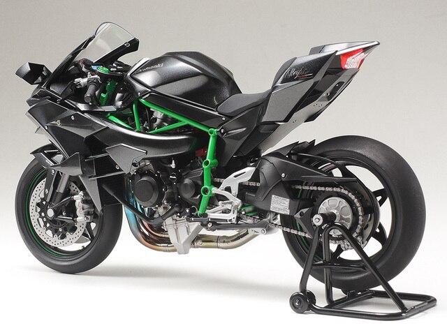 112 Kawasaki Ninja H2r Motorcycle Model Assembly Model 14131 In