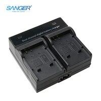SANGER Carregador de Bateria Dual Channel Digital Rápida para Li-50B D-LI92 Li-ion 50B Fit OLYMPUS SP 810 16 D755 VR350 XZ-1 SZ31 SZ14 u6010