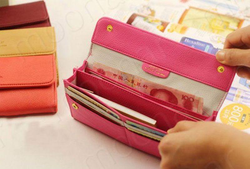 B489 women leather wallet purse (7)