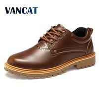 VANCAT 2017 Big Size New Men Winter Shoes Fashion Casual Men Work Safety Shoes Luxury Brand