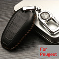 2105 New Arrive High Quality Leather Car Key Bag Case for Peugeot 308S 408 2008 3008 301 508 Car Key Case+ Key Holder Modify