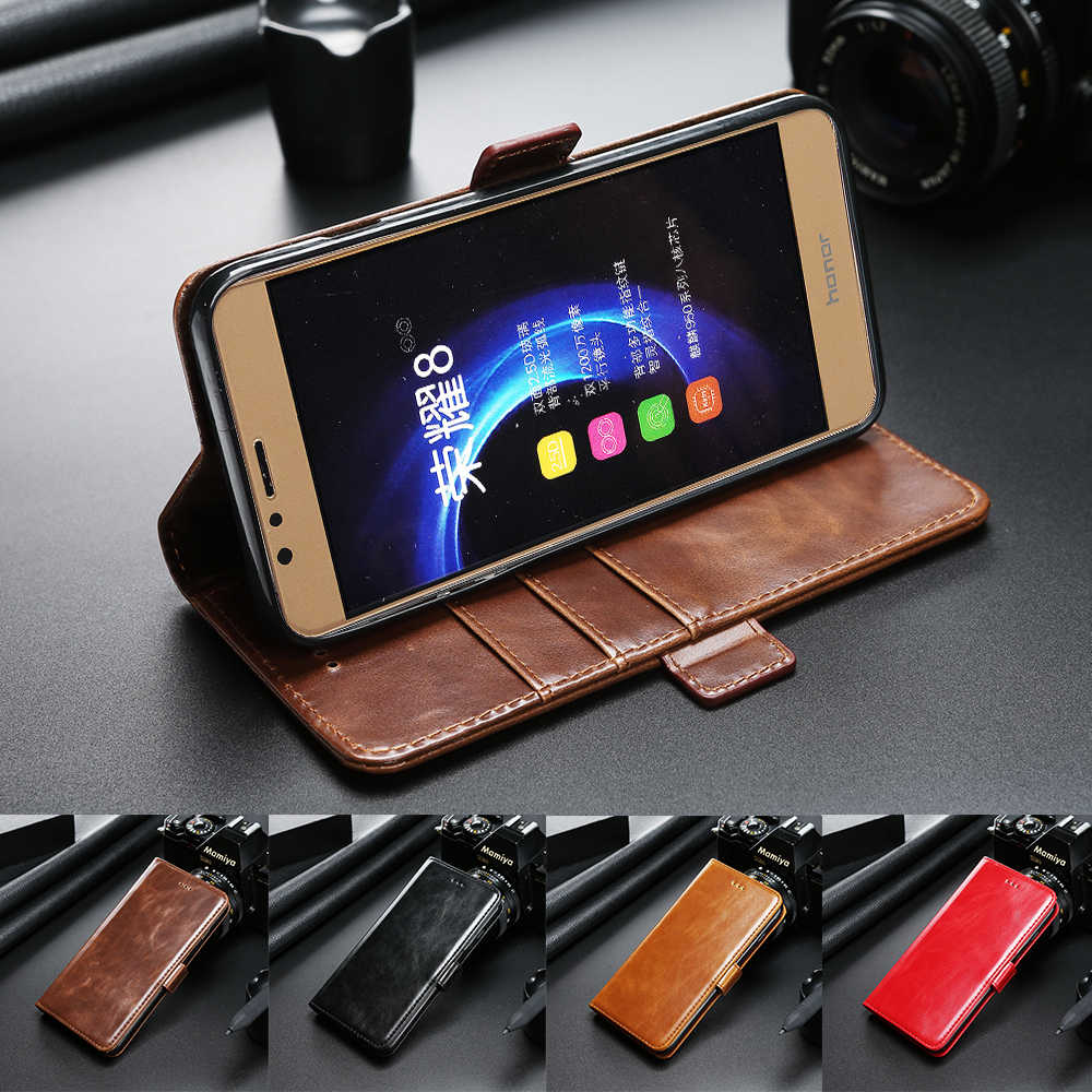 Leather Case for Huawei P8 P9 P10 Lite Plus Honor 8 9 V8 V9 Flip Cover for Samsung S9 S8 Plus S7 S6 Edge S5 Case for OnePlus 3 5